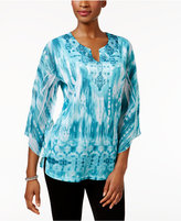 JM Collection Petite Sublimated-Print Tunic, Only at Macy's