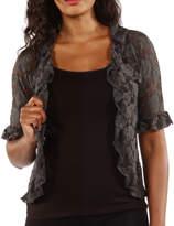 24/7 Comfort Apparel Goddess Black Lace Bolero Cardigan Shrug
