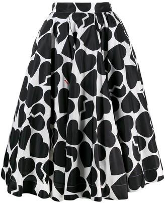 MSGM heart shape print skirt