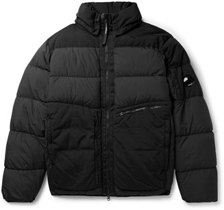 C.P. Company Appliqued Garment-Dyed Padded Quilted Nylon Jacket