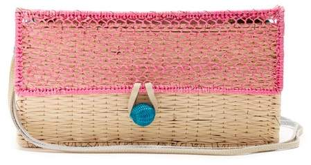 Sophie Anderson Romina Toquilla-straw Cross-body Bag - Womens - Pink Multi