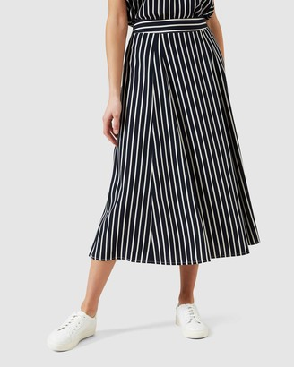 French Connection Women's Skirts - Stripe Midi Skirt - Size One Size, 10 at The Iconic