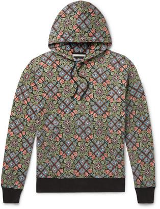 Stussy Printed Fleece-Back Cotton-Jersey Hoodie