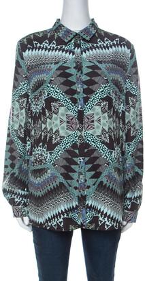 Matthew Williamson Multicolor Abstract Printed Silk Shirt M
