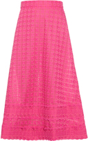 House of Holland Broderie-anglaise trim midi skirt