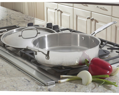 Cuisinart Chef's Classic Stainless Steel 5.5-qt. Saute Pan with Lid