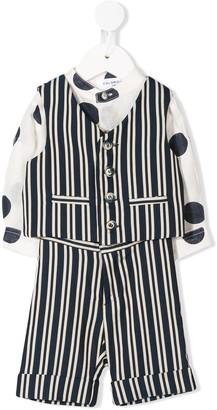Colorichiari Striped Trouser Set