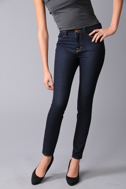 "J Brand 10"" High Rise Skinny Ankle Jeans - 210 in Indigo"
