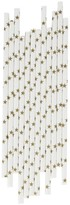 MY LITTLE DAY Star Straws, Gold - Set of 25