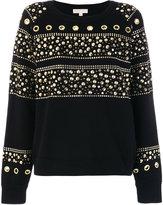 MICHAEL Michael Kors Studded Cotton Sweatshirt