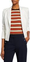 Veronica Beard Danielle One-Button Dickey Crop Jacket