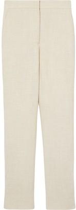 Burberry Stripe Detail Wool Silk Linen Tailored Trousers