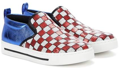 Marc Jacobs Embellished slip-on sneakers