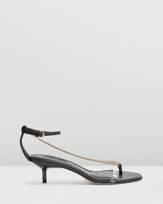 Topshop Rush Chain Mini Heels
