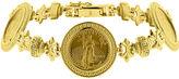 JCPenney FINE JEWELRY 14K Yellow Gold 1/10 oz. Liberty Dollar Coin Bracelet