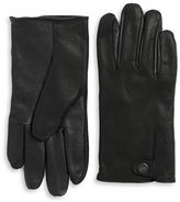 UGG Faux Fur-Lined Leather Gloves