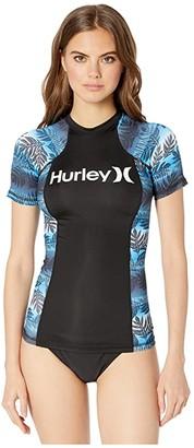 Hurley Sig Zane Moorea Short-Sleeve Rashguard (Obsidian) Women's Swimwear