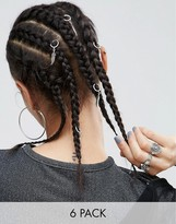 Asos Pack of 6 Leaf Charm Hair Rings