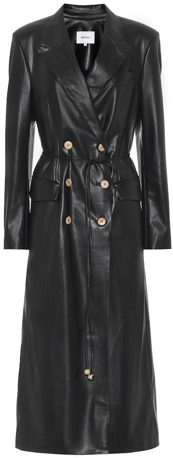 Manila faux leather coat