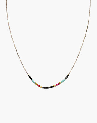Madewell Cast of Stones Beaded Intention Necklace in Black Multicolor