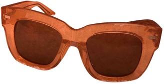 Acne Studios Orange Metal Sunglasses