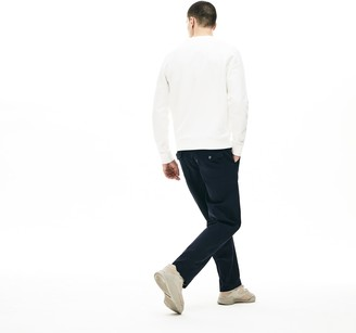 Lacoste Men's Loose Fit Textured Stretch Cotton Chinos