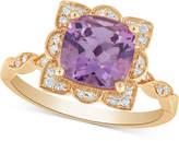 Macy's Amethyst (2 ct. t.w.) & Diamond (1/10 ct. t.w.) Ring in 14k Gold