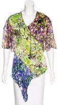 Roberto Cavalli Silk Floral Print Top