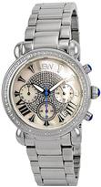 JBW Silvertone & Cream Victory Watch - Men
