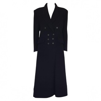 Hermes Black Cashmere Coat for Women Vintage