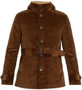 Prada Hooded cotton-corduroy field jacket