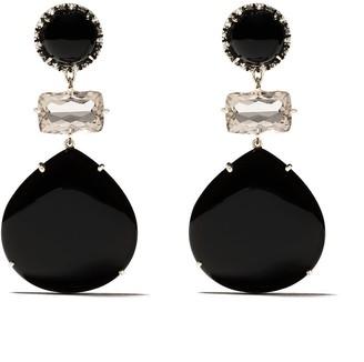 Brumani 18kt gold diamond Nude earrings