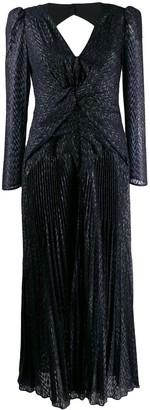 Self-Portrait twisted metallic fil coupe dress
