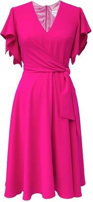 Mellaris Leda Dress Bright Pink French Crepe