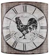 "Lazy Susan Rooster's 14"" Wall Clock Grey Tartan ;"