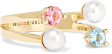 Delfina Delettrez 9-karat Gold, Topaz And Pearl Ring