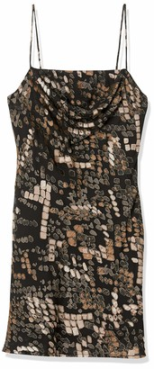 ASTR the Label Women's Sleeveless Cowl Neck Lark Mini Slip Dress