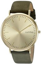 RumbaTime Women's 'SoHo Suede Olive' Quartz Metal and Leather Suede Casual Watch, Color:Green(Model:22643)