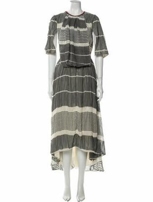 Loewe Striped Long Dress Grey