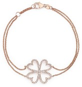 Bloomingdale's Diamond Four Leaf Clover Bracelet in 14K Rose Gold, .40 ct. t.w. - 100% Exclusive