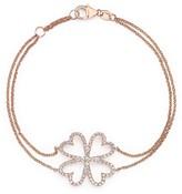 Bloomingdale's Diamond Four Leaf Clover Bracelet in 14K Rose Gold, .40 ct. t.w.