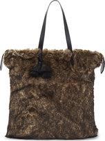 Dries Van Noten Oversized Faux-fur Tote Bag