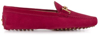Tod's suede Gommini T loafers