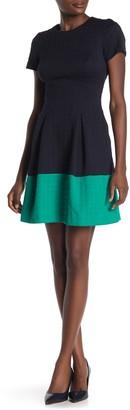 Vince Camuto Short Sleeve Colorblock Dress