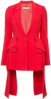 Givenchy frill-tail fitted blazer - women - Spandex/Elastane/Viscose - 38