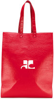 Courreges logo shopper tote
