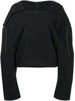 Comme des Garcons Pre Owned 1996 hooded cropped jumper