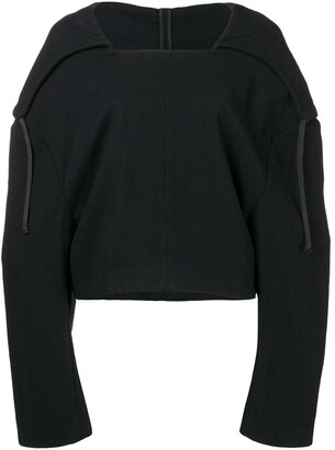 Comme des Garcons Pre-Owned 1996 hooded cropped jumper