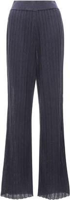 LE 17 SEPTEMBRE Le17 Septembre Wrinkle-Knit Cotton-Blend Flared Pants