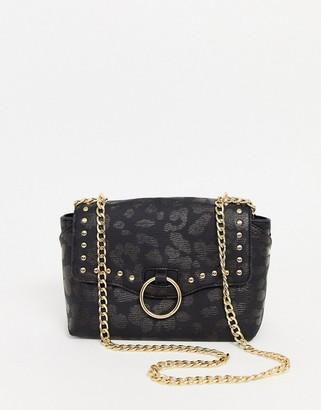 Skinnydip shoulder bag with hardware detail-Black